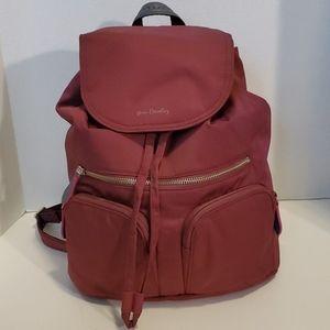 Vera Bradley Burgundy Backpack w/matching wallet
